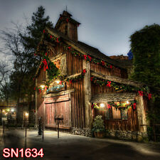 XMAS Snow Winter OUTdoor 10x10 FT CP  PHOTO SCENIC BACKGROUND BACKDROP SN1634