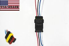4 Pin 4 Wire Way Car Waterproof Electrical Connector Plug w/ Wire AWG New - USA