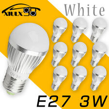 10x Ultra Bright Pure White 3W 12V E27 E26 Home LED RV Energy Saving Bulbs Light