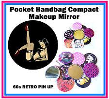 60s RETRO PIN UP - HANDTASCHE / TASCHEN MAKE-UP KOMPAKTER SPIEGEL