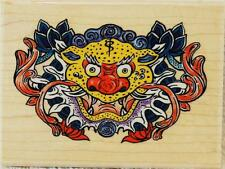 Stampabilities Rubber Stamp Oriental Mask Dragon