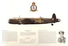AP13 BEAUTIFUL AVIATION PRINT PICTURE PROFILE OF A AVRO MANCHESTER MK1A