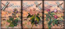 """9 SMALL """"INSPIRATIONAL DRAGONFLY!""""  SCRAPBOOK EMBELLISHMENTS  HANG/GIFT TAGS"""