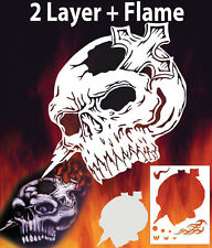 Skull 4 Special Two Layer Airbrush Stencil Spray Vision Template air brush
