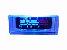 NEW COBRA,UNIDEN CB RADIO S RF / SWR POWER REPLACEMENT METER, BLUE LED LIGHT