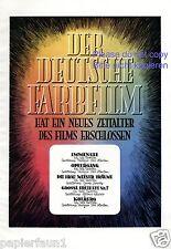 Der deutsche Farbfilm XL Reklame von 1943 !!! Große Freiheit Nr. 7 Ufa Kino  +