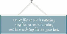 Dance Like No One is Watching Inspirational Sign in Dark Teal, Wall Art  PM222