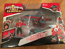 Power rangers Super Samurai Red ranger & shark  megazord new in box UK Seller