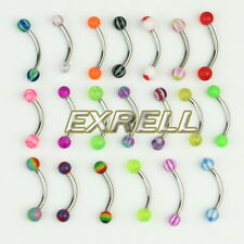 20pcs lot Tragus Balls Ball Eyebrow Rings Stainless Steel Barbell Curved Bars