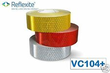 2 METRES RED - REFLEXITE VC104+ RIGID GRADE REFLECTIVE MARKER TAPE STICKY VINYL