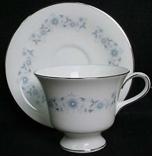 WEDGWOOD china JOSEPHINE BLUE pattern Cup & Saucer