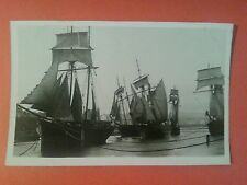 RP EARLY SAILING SHIPS IN PORT ST MARY HARBOUR ISLE OF MAN REAL PHOTO MANX IOM