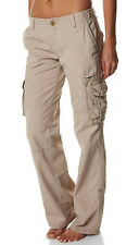 "BRAND NEW + TAG BILLABONG LADIES CARGO PANTS SIZE 14 / 32"" SAND ""AT EASE"" RRP$90"