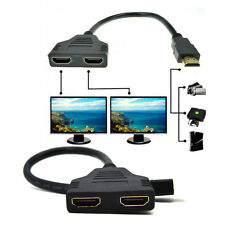 HDMI Splitter Adapter Converter Male to Female 1to2 Splitter Adapter Cable new