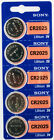 5PC SONY 2025 CR2025 Lithium Watch Coin Cell Battery 3V 160 mAh - use by 2023
