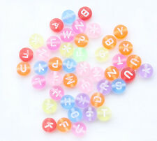 Free Shipping 230pcs Mixed Transparent Acrylic Alphabet/Letter Beads 7mm D001