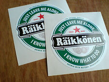 KIMMI RAiKKONEN F1 Fans Just Leave Me Alone Stickers Decals 2 off 83mm