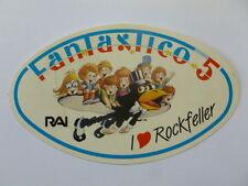 VECCHIO ADESIVO / Old Sticker TV RAI FANTASTICO 5 ROCKFELLER (cm 13 x 8)