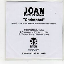 (FQ690) Joan As Police Woman, Christobel - 2006 DJ CD