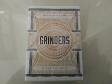 Grinders White Deck Rare Limited Edition Professional Poker Custom Playing Cards
