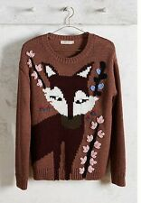 Anthropologie Paul And Joe Intarsia Fox Sweater S Sold Out Worn Once!