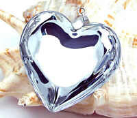 Lampwork Murano glass Heart beaded Pendant nice  Transparent Necklace P206