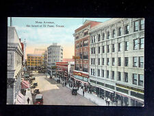 c.1915 Stores Mesa Ave. in Heart of El Paso TX post card