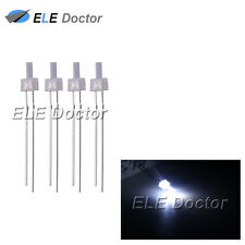 100pcs 2mm Diffused White-White Light DIP Flat Top LED Diodes
