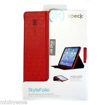 Auth Speck StyleFolio Apple iPad Air Case Stand  VISTA RED Flip Shell Cover Skin