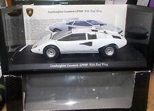 Kyosho 1/18  08324W Lamborghini Countach LP400 with Roof Wing White
