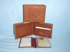 CHICAGO BEARS   Leather BiFold Wallet   NEW   brown 4