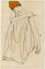 Egon Schiele Reproductions: The Dancer (Die Tanzerin) - Fine Art Print