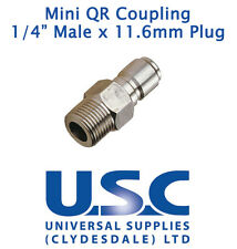 Pressure Washer Mini Quick Release Coupling 1/4 Male x 11.6mm Plug Nozzle Jet QR