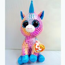 "NEW 6"" TY Beanie Boos Glitter Eyes Colorful Unicorn Plush Stuffed Toy Kid Gifts"