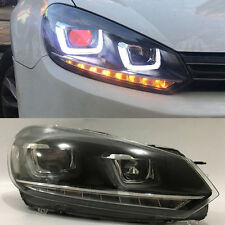 Set LED DRL Xenon Headlights Demon Eyes for Volkswagen Golf 6 GTI MK6 2010-2014