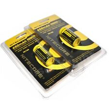 Genuine NITECORE RCR123A  NL166 Rechargeable Batteries 2 Pack Li-ion Protected