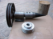 "System of Shaft Pulley + 3"" SCREW TYPE LOG WOOD SPLITTER"