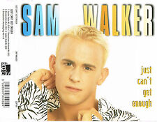 "SAM WALKER - 5""CD - Just Can't Get Enough (4 Mixes) Pic Disc. UK"