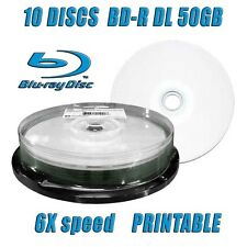 10 DISCS CMC BD-R DL 50GB 6X BLU RAY DUAL LAYER PRINTABLE RECORDABLE