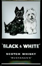 BLACK AND WHITE WHISKY Vintage Metal Pub Sign | 3D Embossed Steel | Home Bar