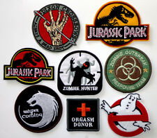 Lot of 8 Patches Fashionable Embroidered Iron-On Patches 8 pcs