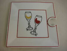 "Wine Valley Classics Cater Reception Appetizer Square Plate, 8"" X 8"" Diameter"