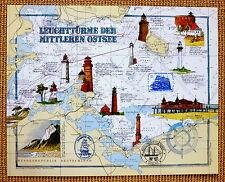 Leuchttürme Ostsee Hiddensee Dornbusch,Darß-Prerow-Ahlbeck, Greifswald ,Seekarte