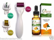 DERMA-CIT® 3-In-1 Derma Roller Skincare Kit Titanium Needles + Vitamin C Serum