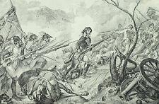 Le général Joubert à la bataille de Rivoli 1797 - Gravure XIXème