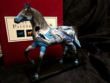 Trail of Painted Ponies Chief Sitting Bull's DREAM WARRIORS Blue Gray Horse MIB!