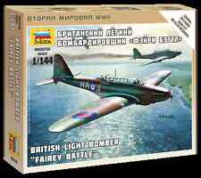 Z6218 FAIREY BATTLE LIGHT BOMBER - ZVEZDA 15mm VEHICLES 1/144 - WW2