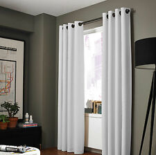 """Grommets Panel 100% Blackout 3 Layered Bay Window Curtain 1 Set WHITE 108"""""""