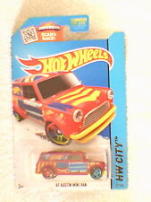Hot Wheels - US Card - #27 '67 Austin Mini Van - Metallic Red