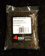 CANDY SUGAR 1LB AMBER BELGIAN CANDI SUGAR FOR BEER BREWING HOMEBREW AND BAKING